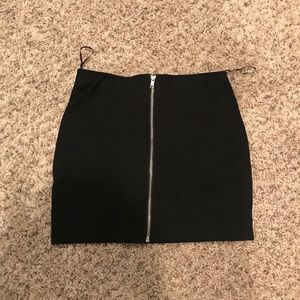 Black skirt with zipper in back